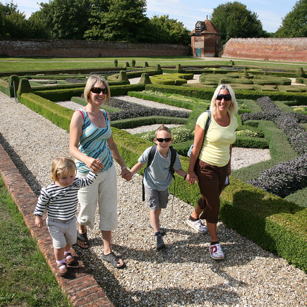 Basing House Gardens in Hampshire