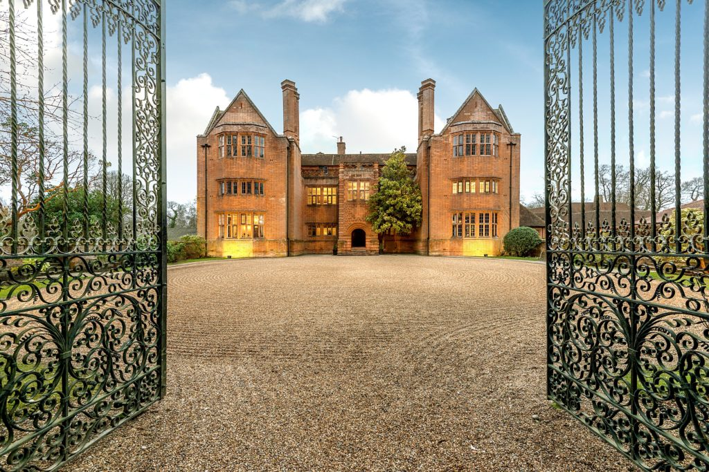 New Place Manor House with gates